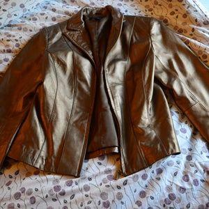 Beautiful Alfani Bronze Leather Blazer Jacket M